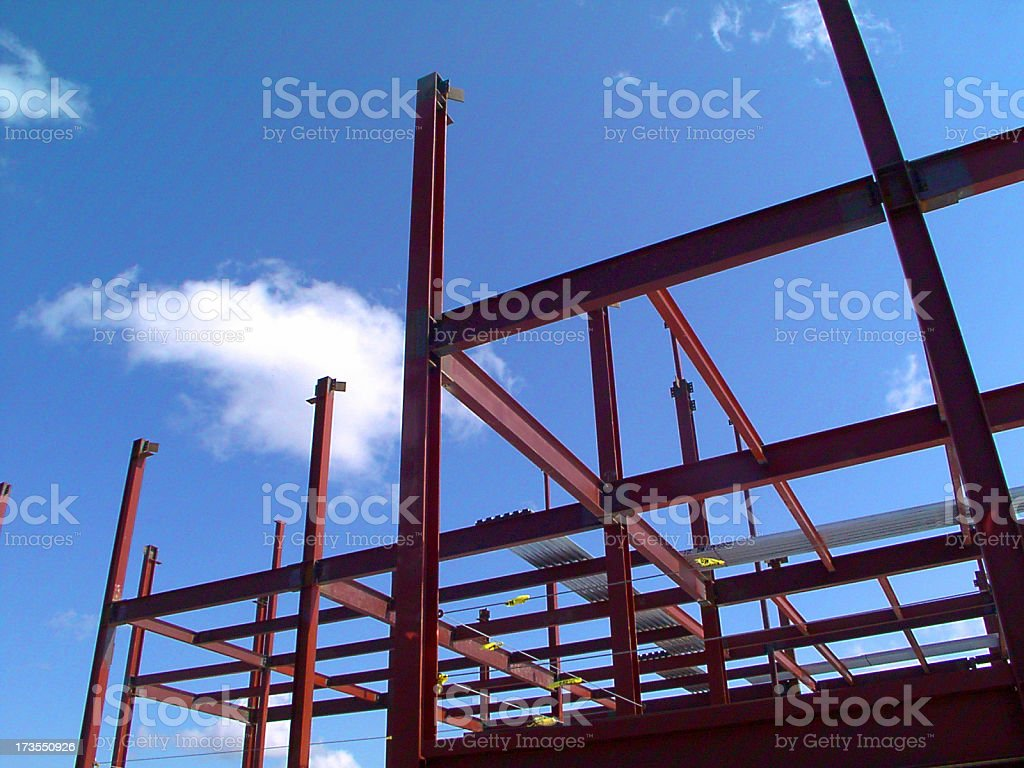 Steel Building Construction royalty-free stock photo