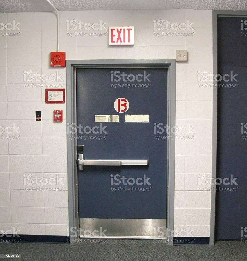 Steel Bunker Door stock photo