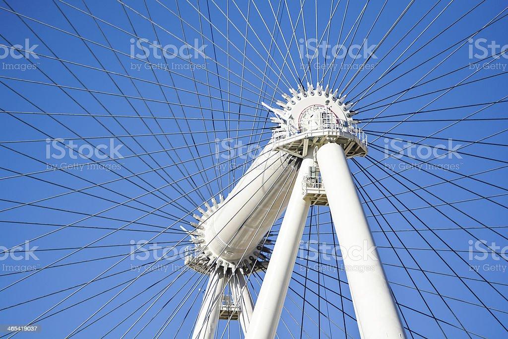 Steel Cable Ferris Wheel stock photo