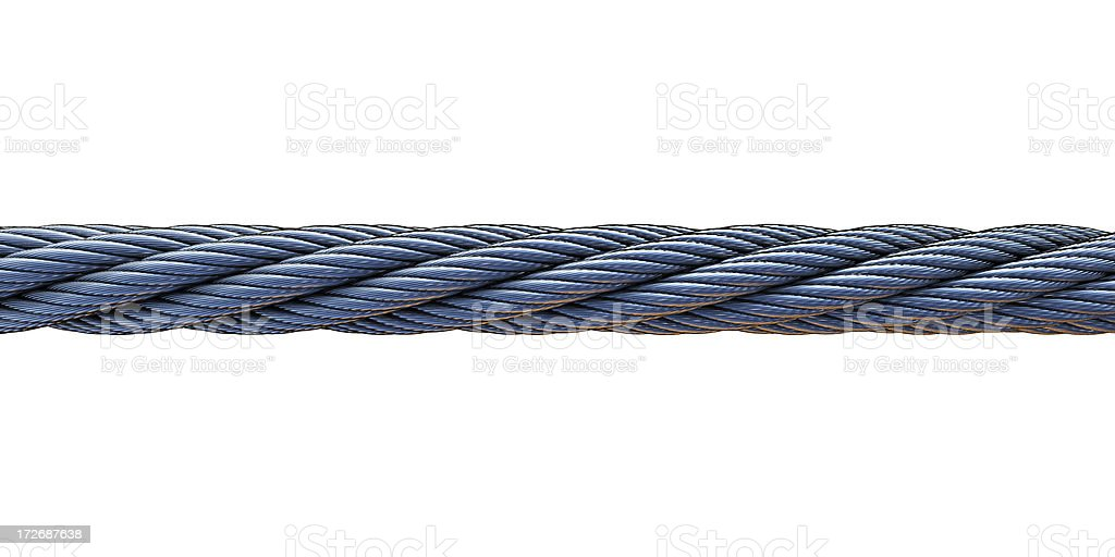 steel cable on white royalty-free stock photo