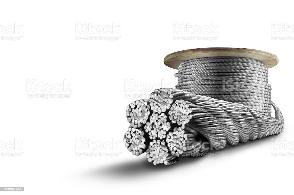 Steel cable stock photo