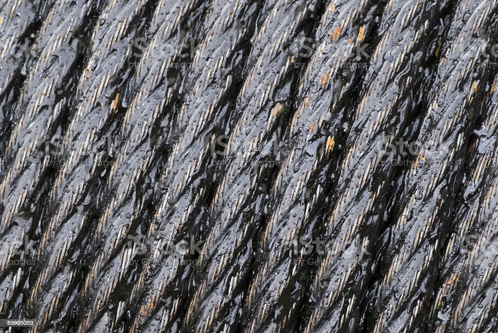 Steel cable royalty-free stock photo
