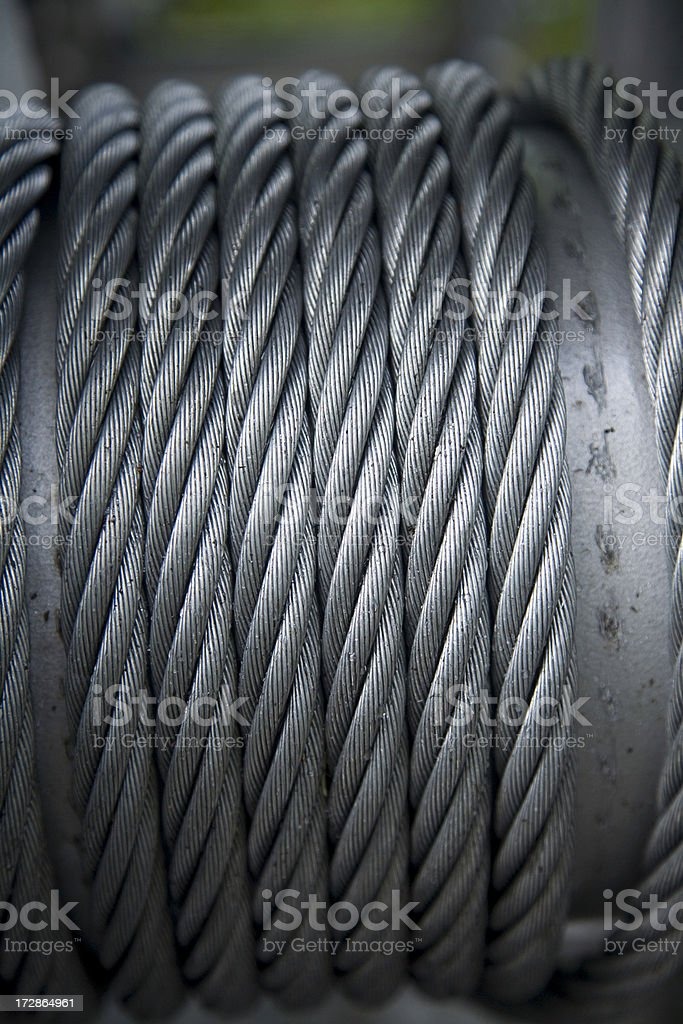 Steel cable spool royalty-free stock photo