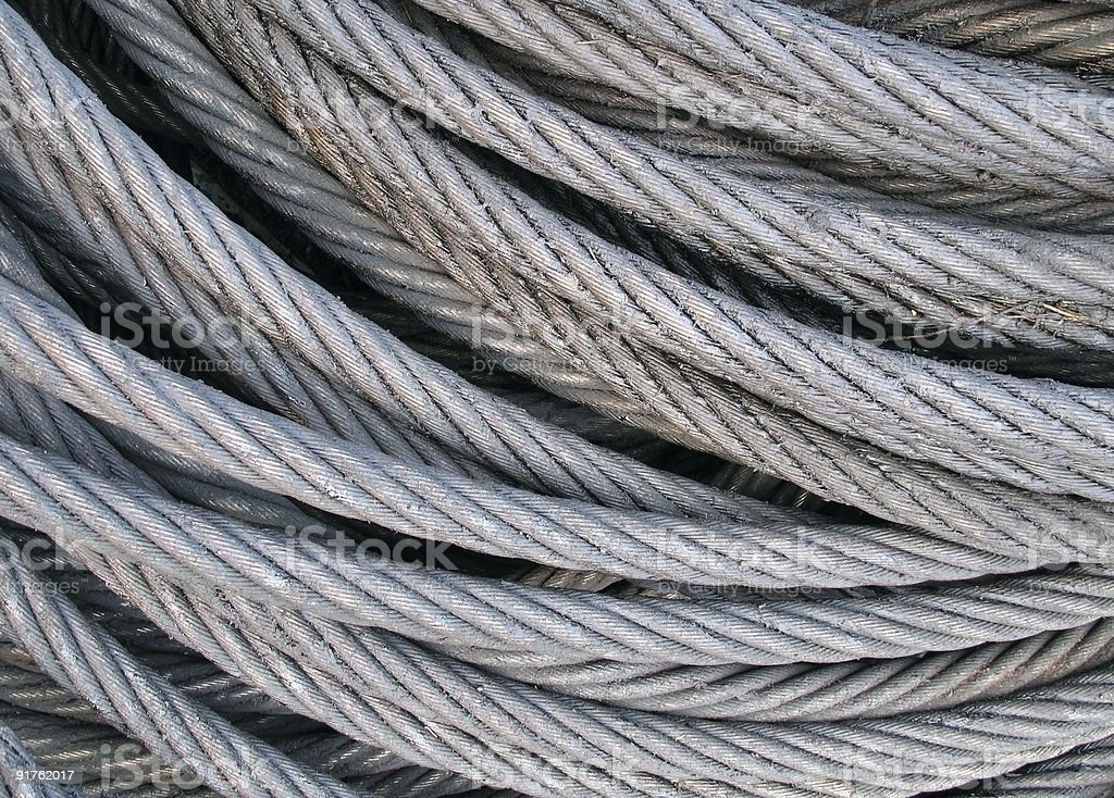 Steel Cables stock photo