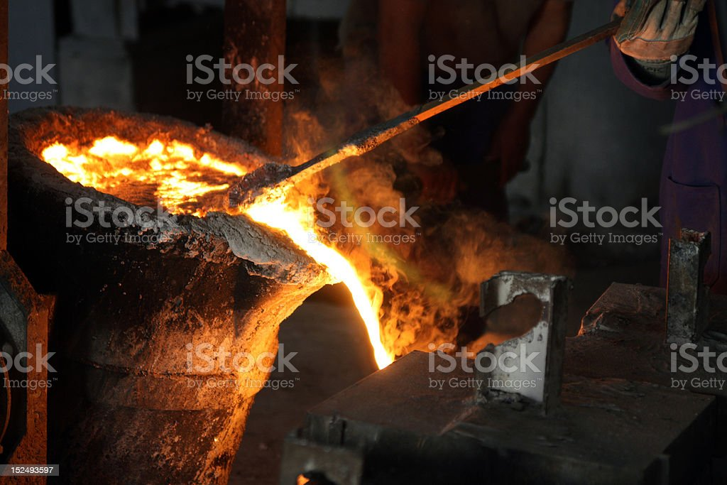 steel casting royalty-free stock photo
