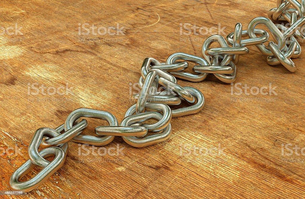 Steel chain background stock photo
