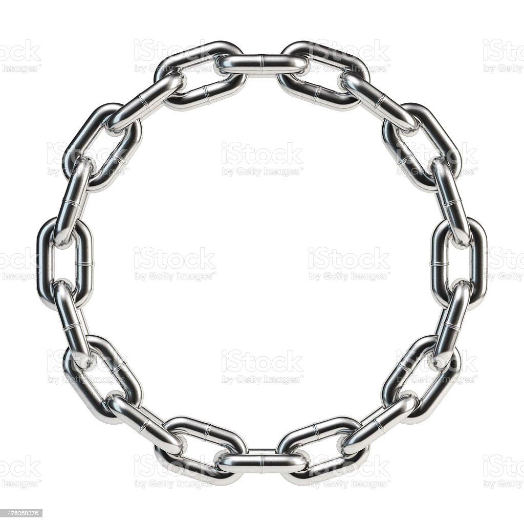 Steel chain circle stock photo