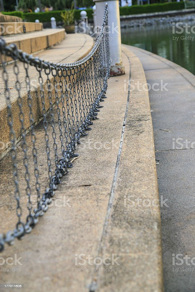 Steel chain hang as curtain royalty-free stock photo
