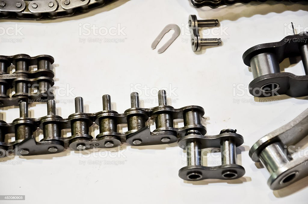 Steel chain royalty-free stock photo
