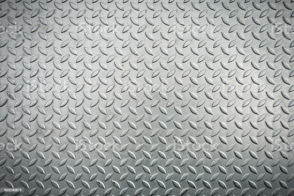 Steel checkerplate metal sheet, Metal sheet texture background. stock photo