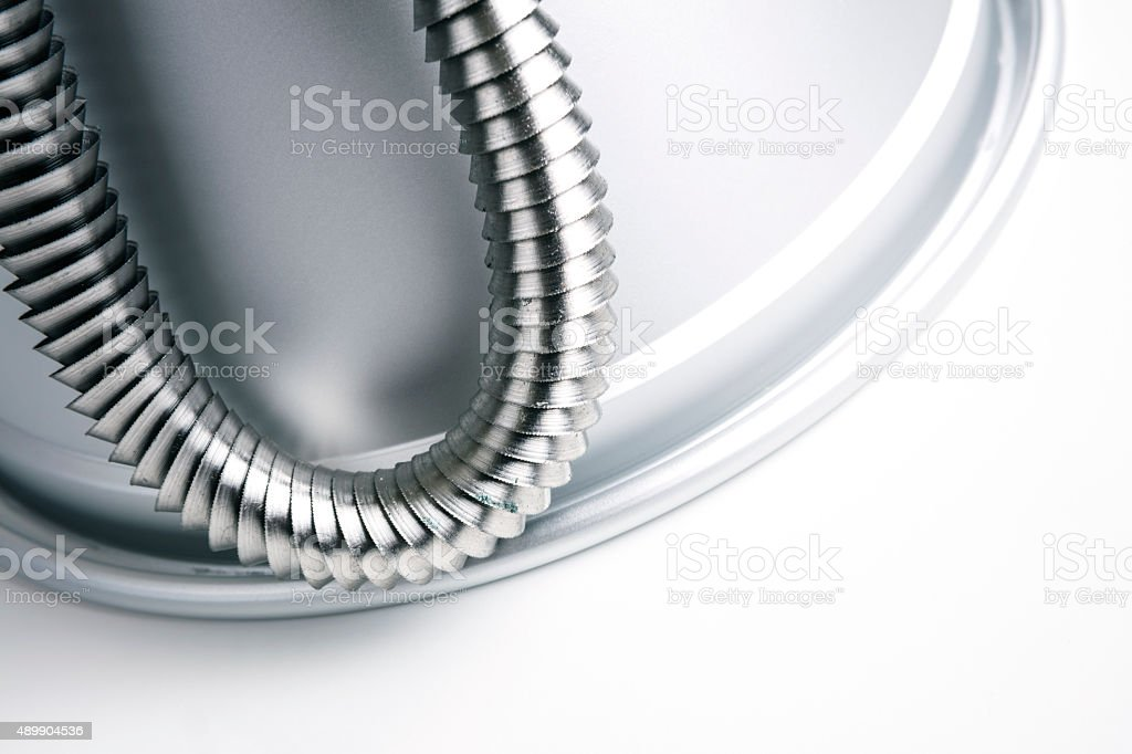 Steel Chip Turnings stock photo