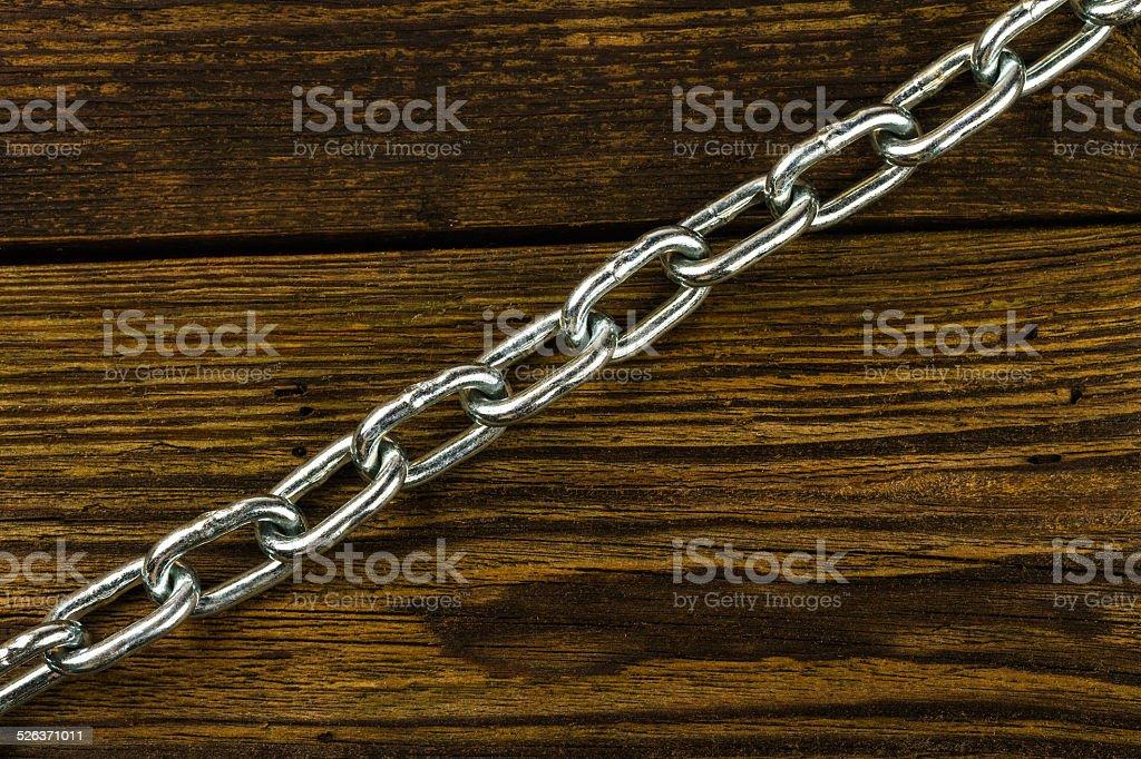 steel chromeplated chain stock photo