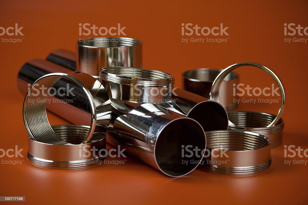 steel chromium-plated rings royalty-free stock photo