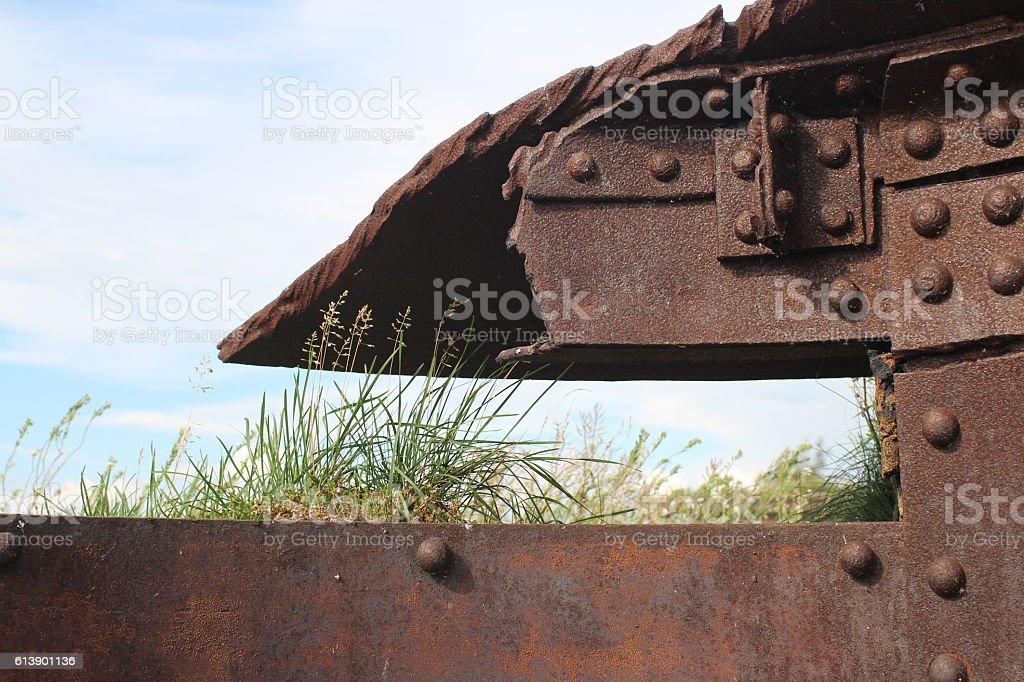 Steel Citadel ruins stock photo