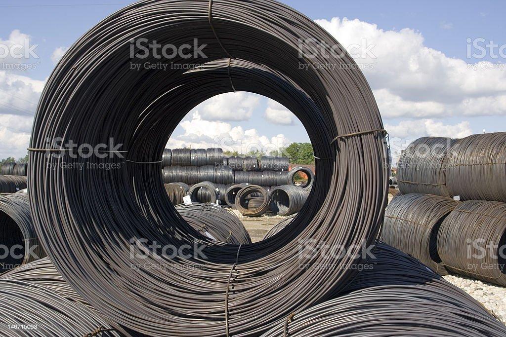 Steel Coil stock photo