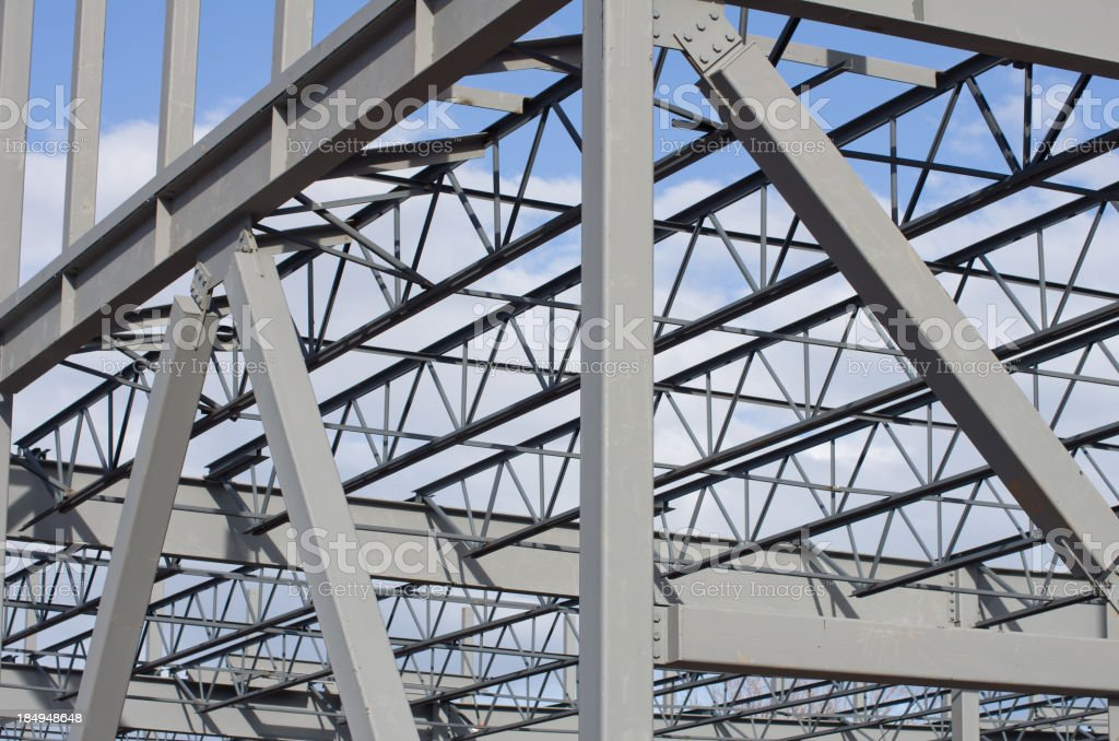 Steel Construction Background royalty-free stock photo