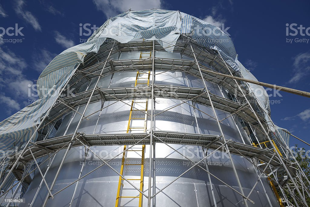 Steel Container Tower Construction Site royalty-free stock photo