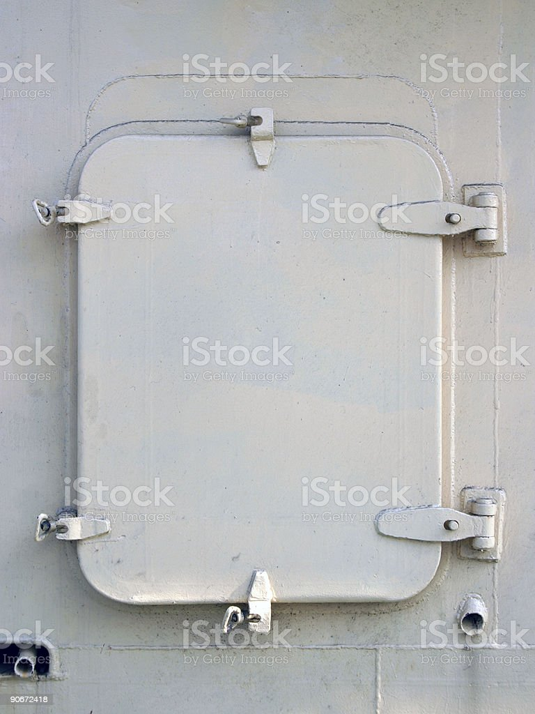 Steel cover royalty-free stock photo