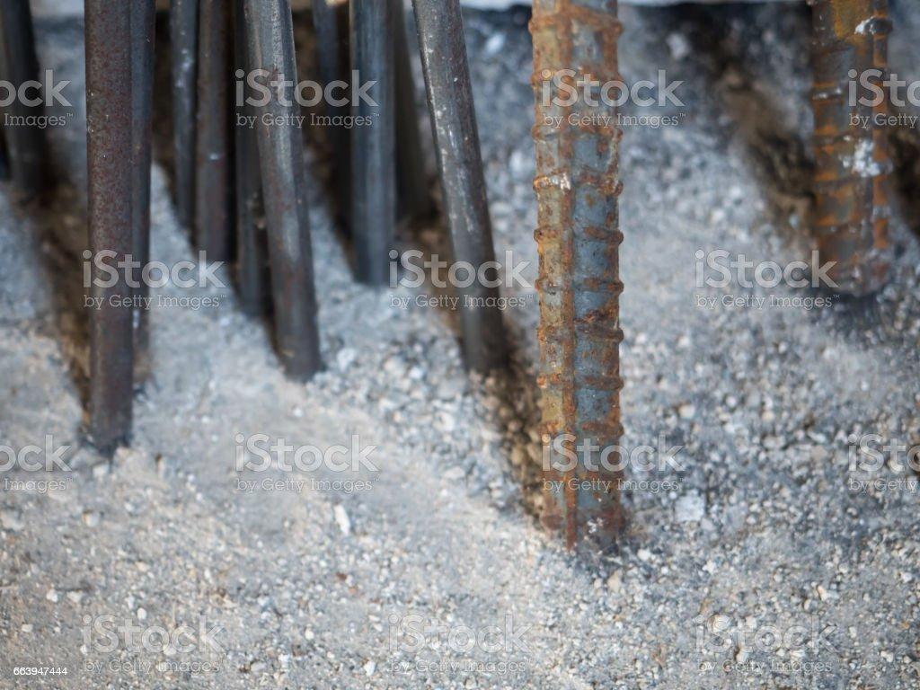 Steel Deformed Bar and Steel Round Bar stock photo