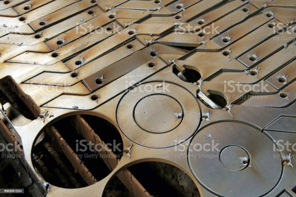 Steel detail of lathe and milling industry stock photo