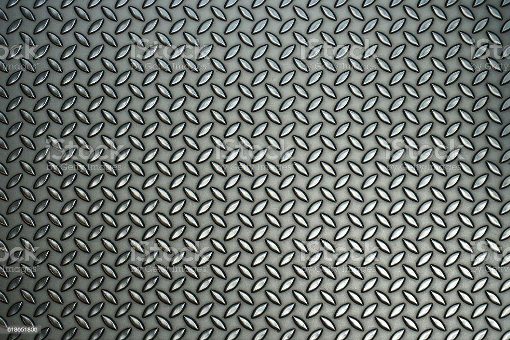 steel diamond pattern stock photo