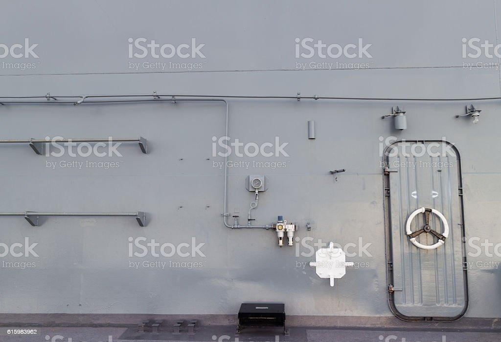 Steel doors stock photo