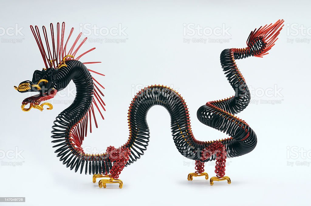 Steel dragon royalty-free stock photo