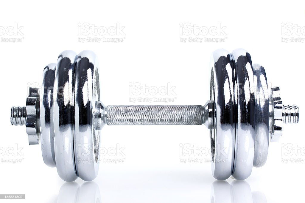 Steel Dumbbell royalty-free stock photo