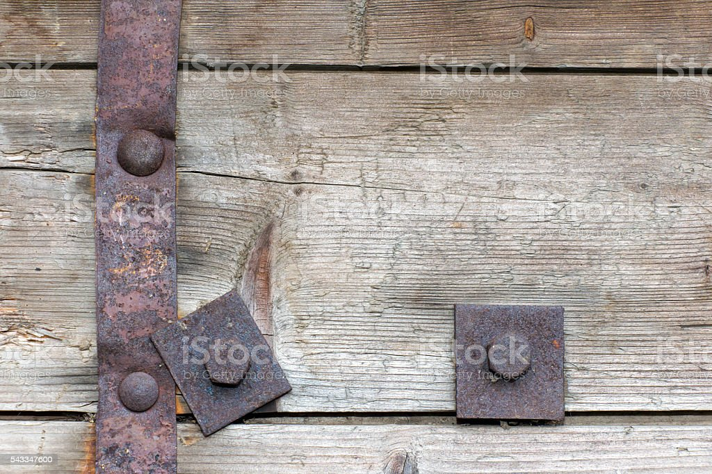 Steel element of iron corroded by rust. Very old. Strong stock photo