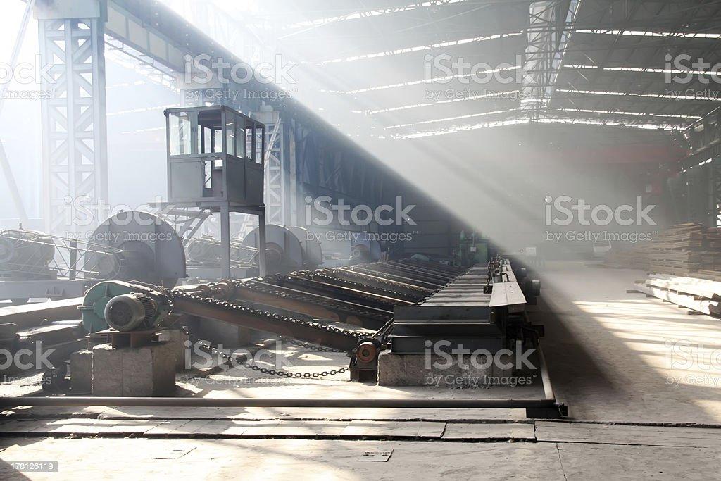 steel enterprise production workshop royalty-free stock photo
