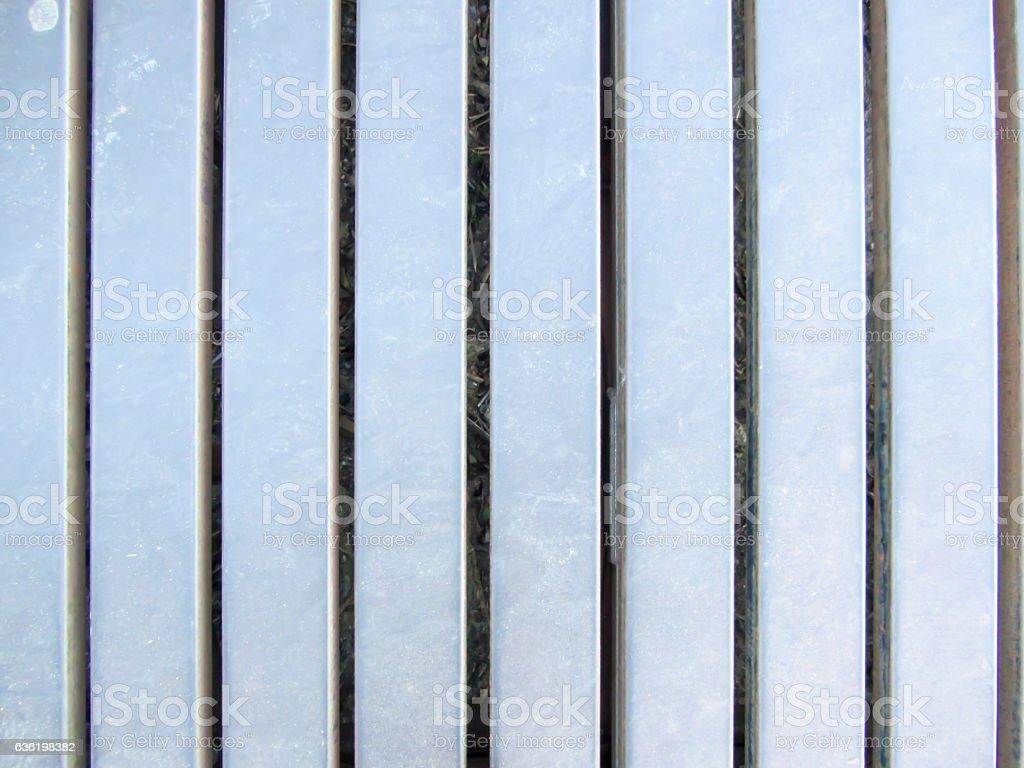 Steel factory floor stock photo