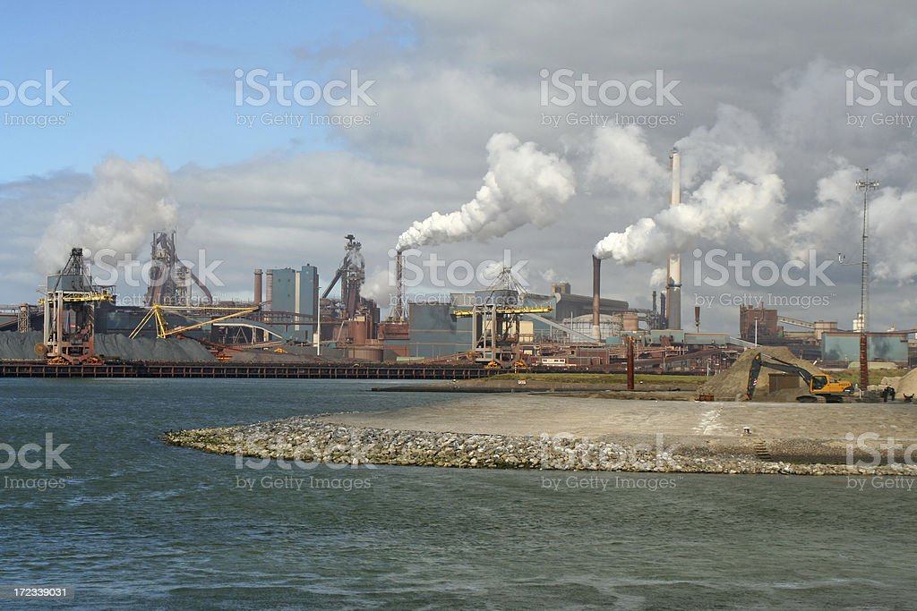 Steel factory # 2 royalty-free stock photo