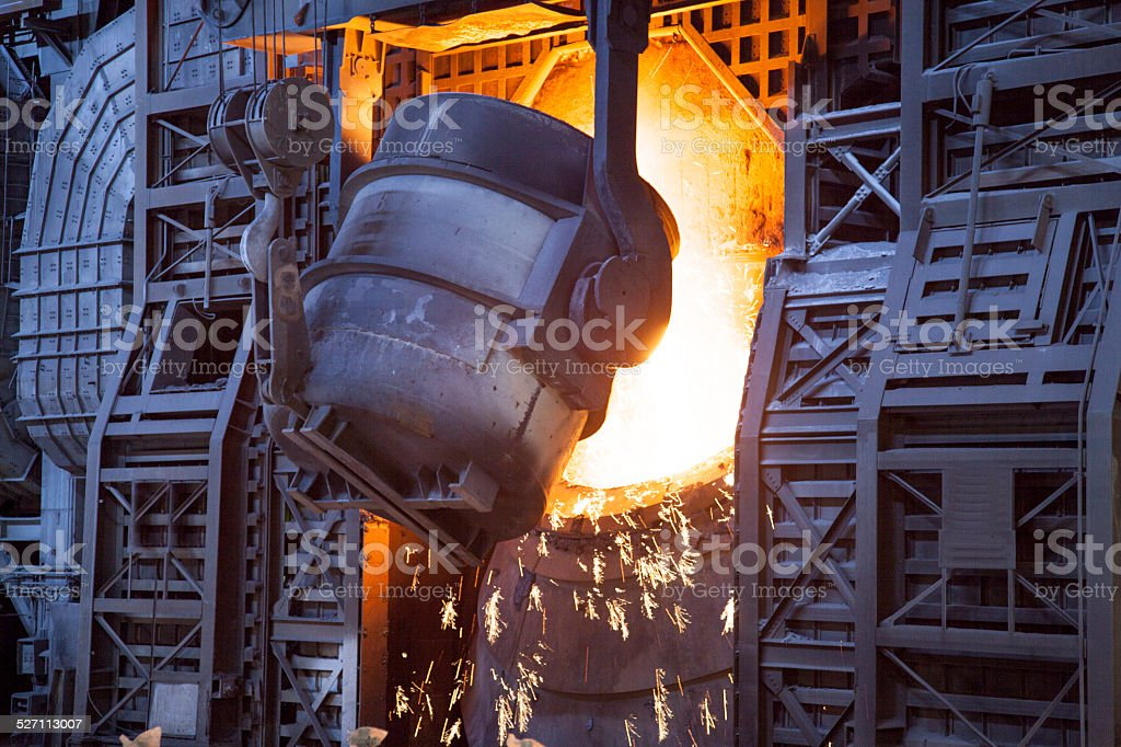 Steel Factory stock photo