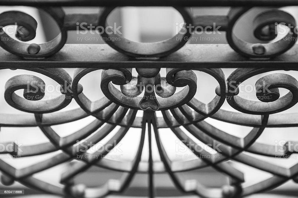 Steel Fence stock photo