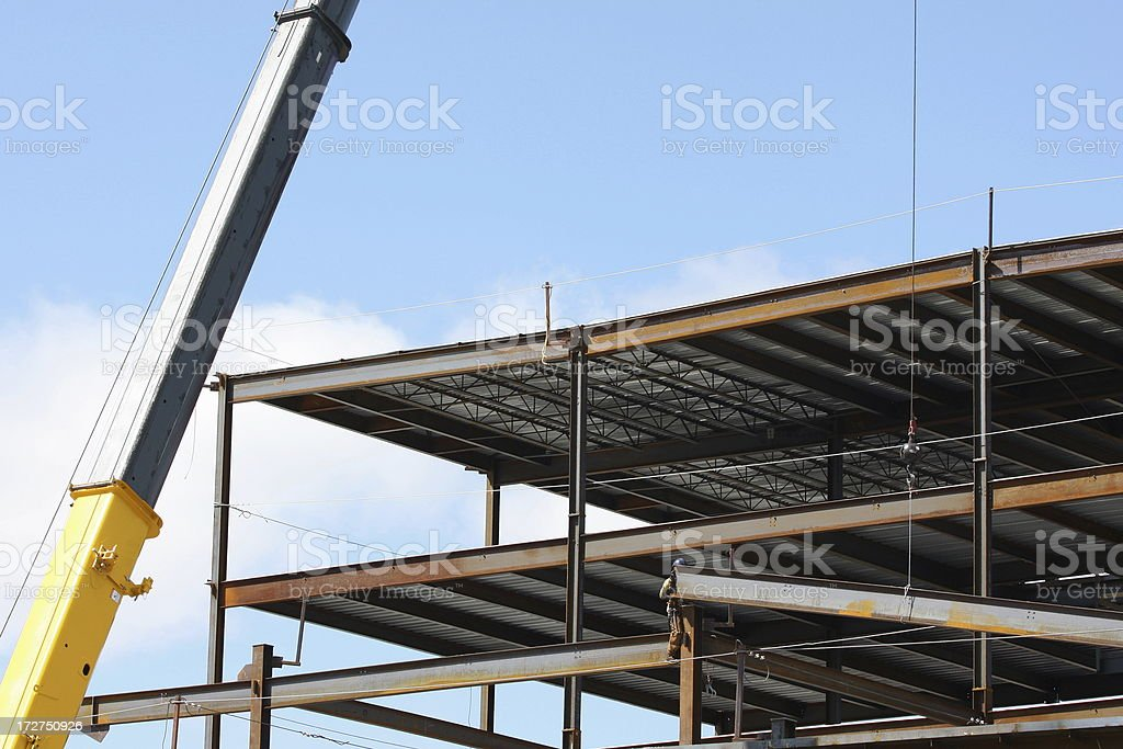 Steel Frame Construction - 2 stock photo