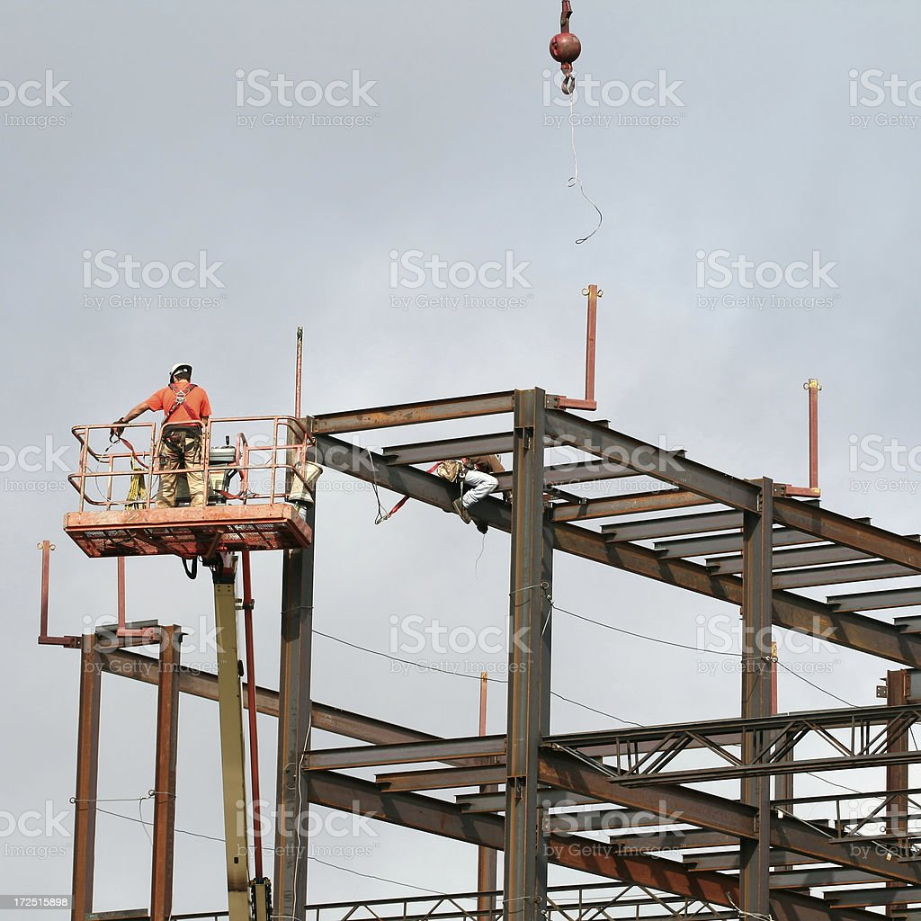 Steel Frame Construction stock photo