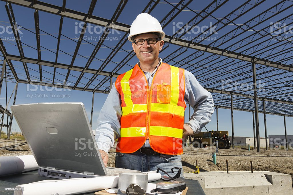 Steel Frame Engineering royalty-free stock photo