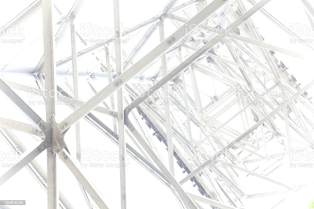 Steel framework abstract royalty-free stock photo
