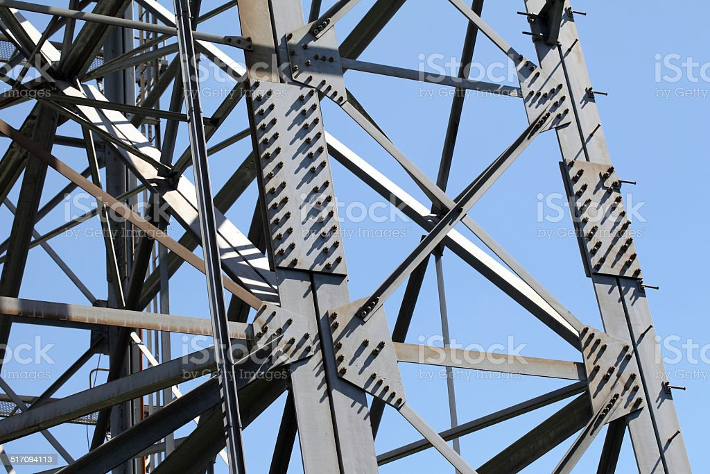Steel framework stock photo