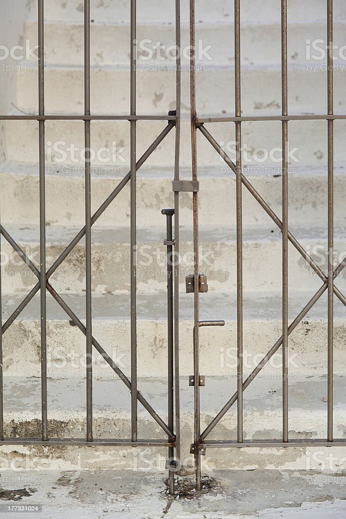 Steel Gate royalty-free stock photo