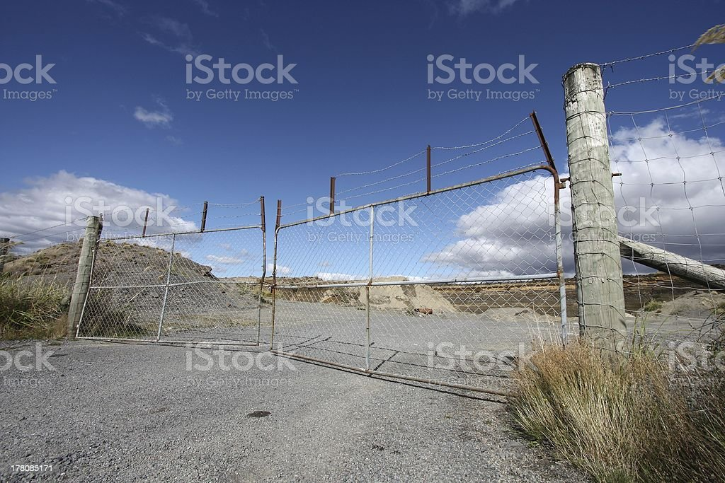 Steel gate royalty-free stock photo