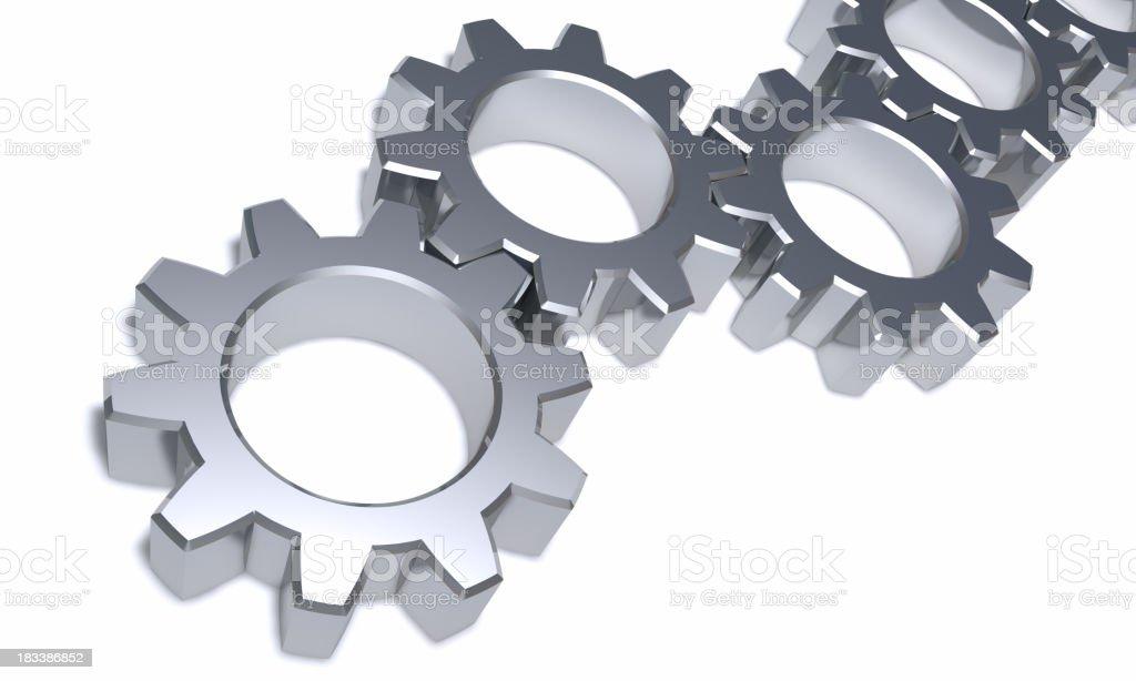Steel gear wheels royalty-free stock photo