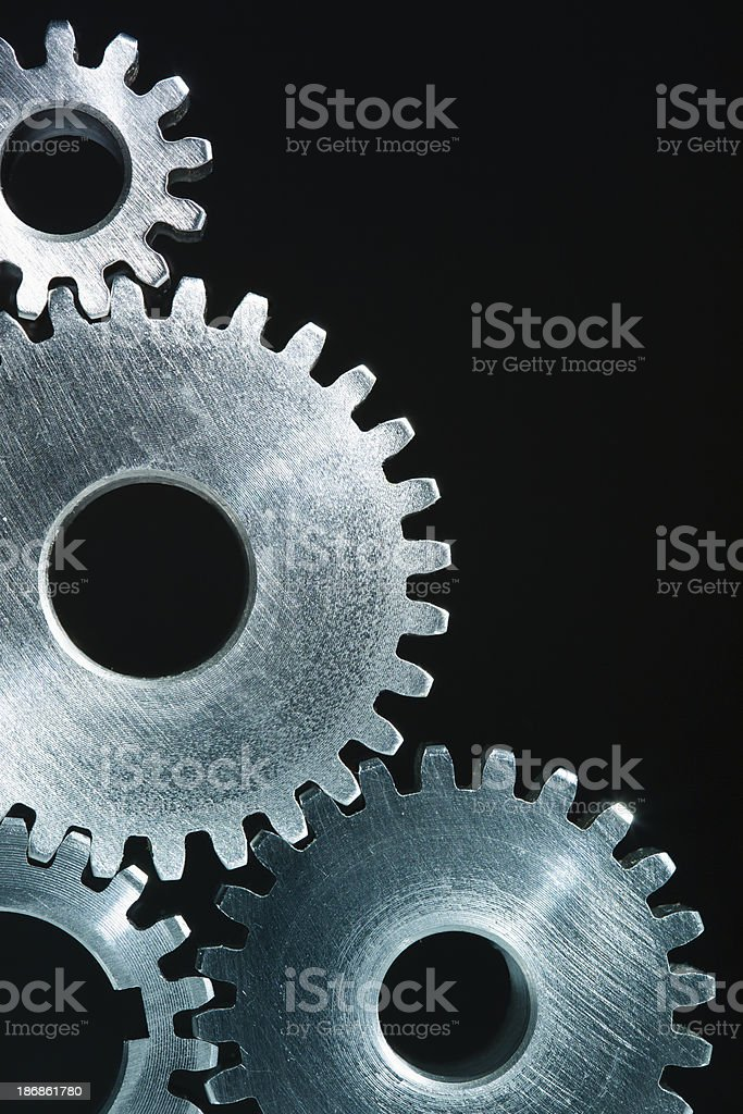 Steel Gears background stock photo