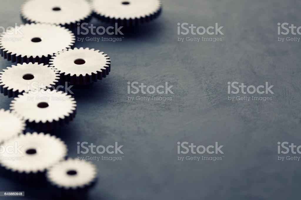 Steel Gears Background stock photo