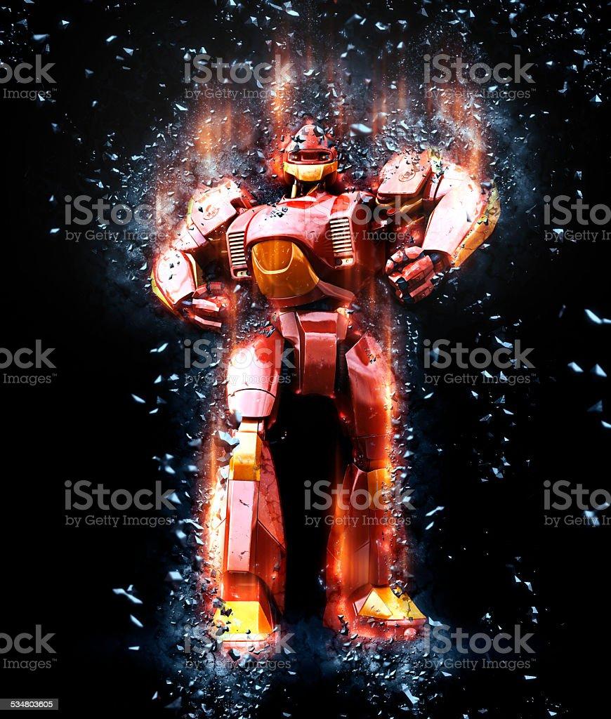 Steel giant stock photo