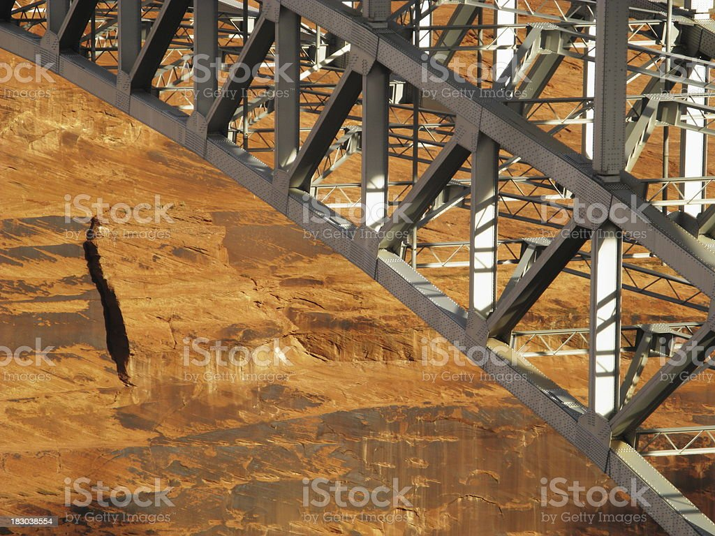 Steel Girders Bridge Glen Canyon royalty-free stock photo