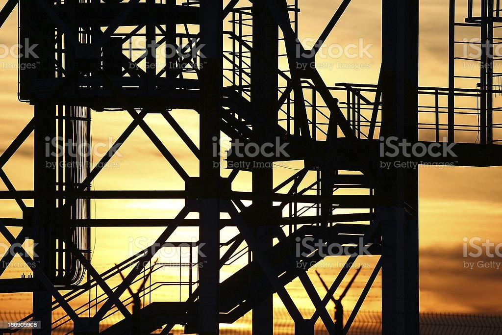 Steel grid structure royalty-free stock photo