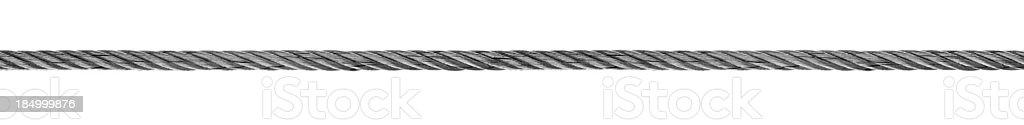 Steel hawser. stock photo
