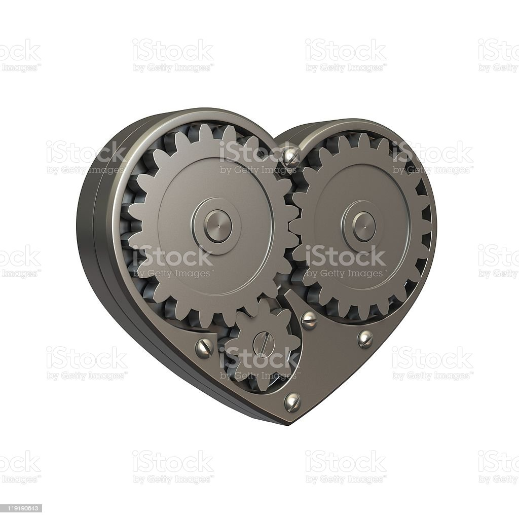 Steel heart stock photo