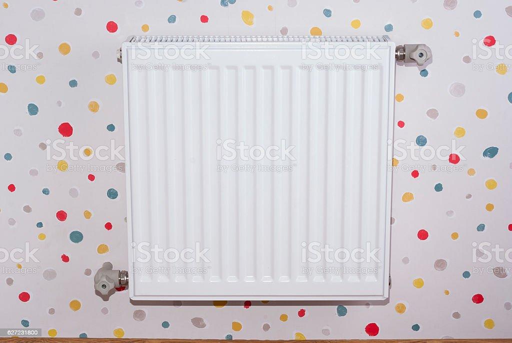 steel heating radiator stock photo
